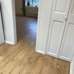 Laminate floor fitting Kitchen to lounge